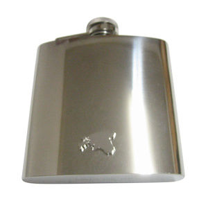 Estonia Map Shape Pendant 6oz Flask